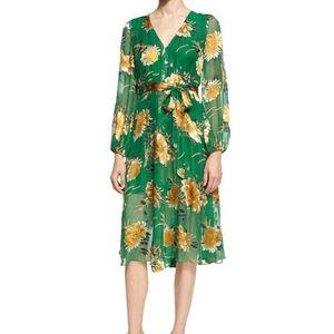 Coco Plunging V-Neck Midi Dress